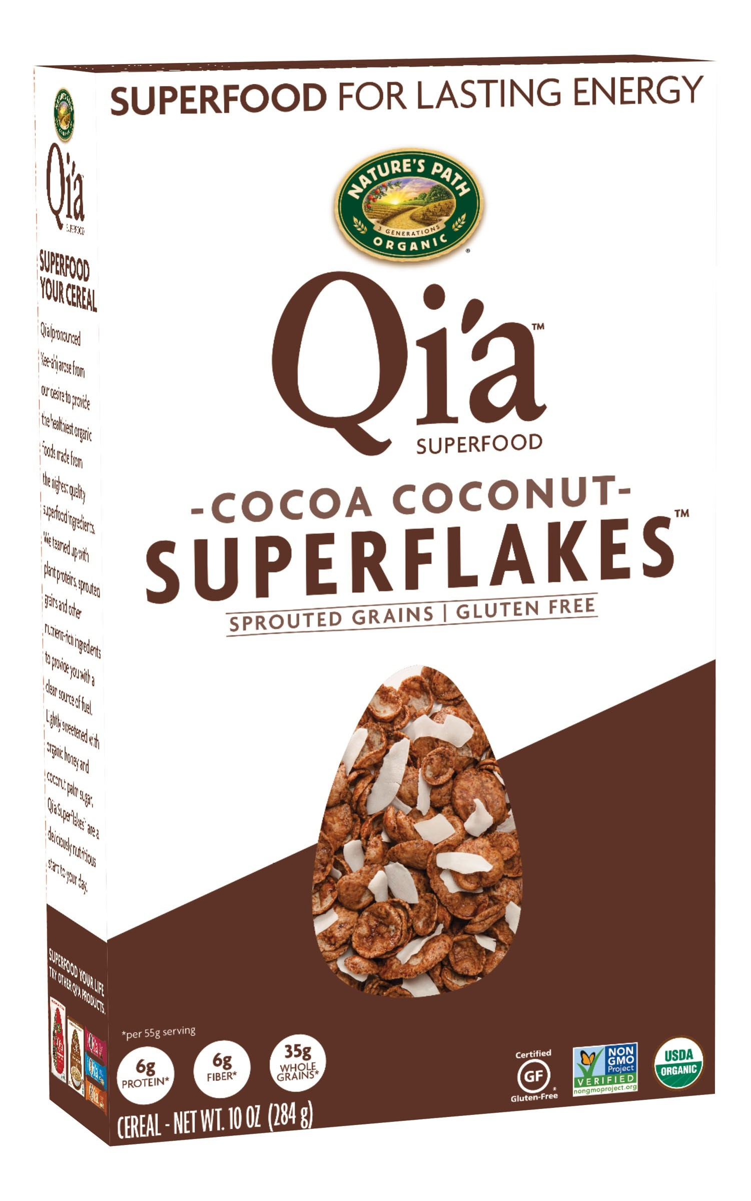 CEREAL QI'A CHOCOLATE Y COCO ORGÁNICO 284G